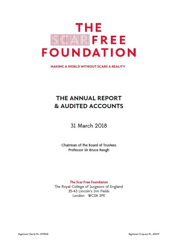 The Scar Free Foundation Signed Annual Report And Audited Accounts 17 18