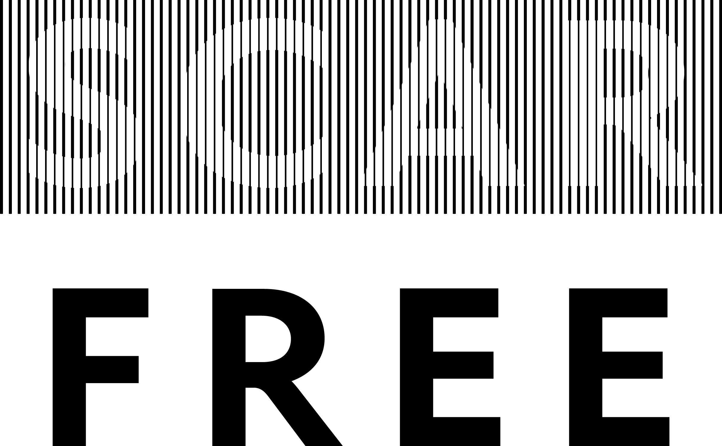 Scar Free Stacked Large Print Logo Black