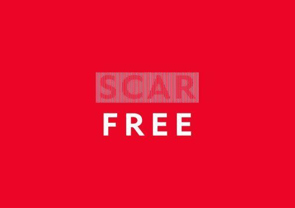Scar Free Stacked Large Print Logo White